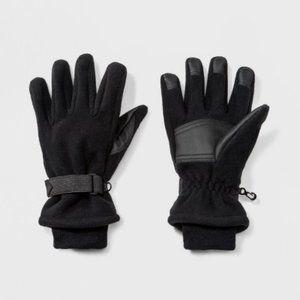 Men's Black Wind Proof Fleece Gloves